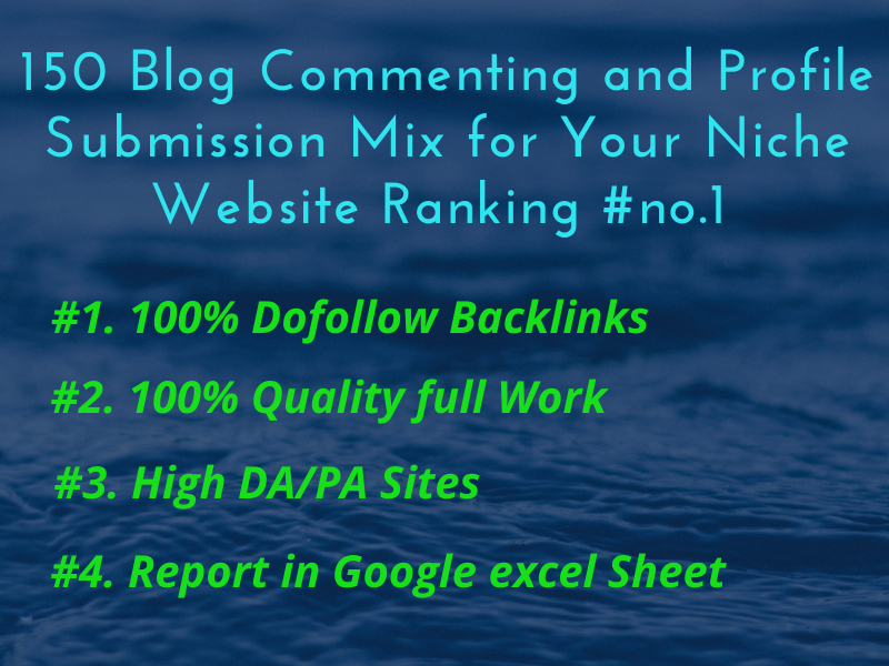 I will do 150 Blog Comment and Profile Backlinks For your website rank 1