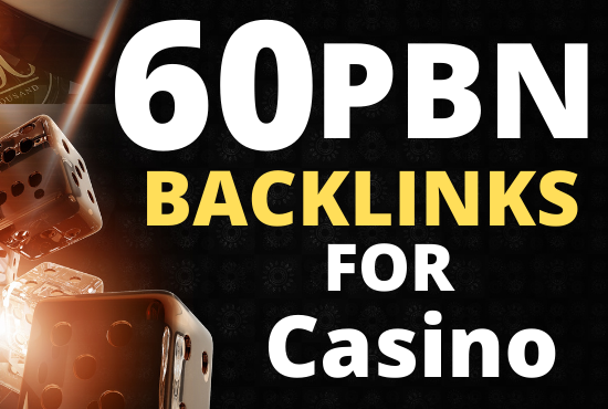 I will create 60 PBN Backlinks for Casino,  Gambling,  Poker,  Betting Fast Delivery