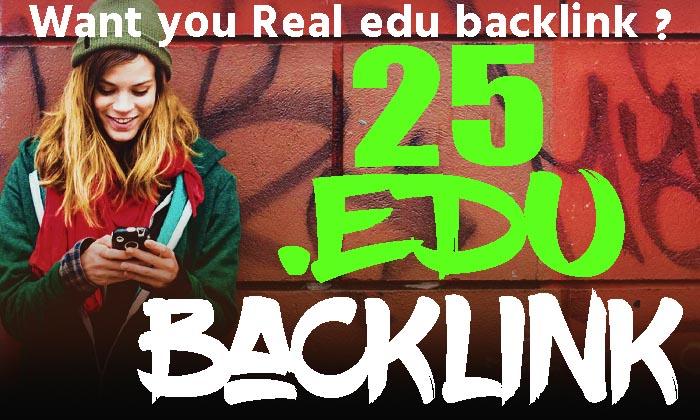 100 Percent Manual 25 edu backlink from. edu domain