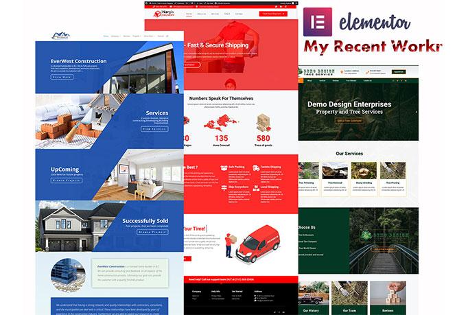 Wordpress website designer using Elementor DIVI
