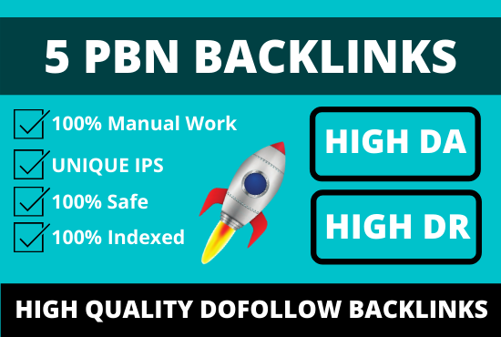 5 high quality pbn backlinks from authority domains for off page seo