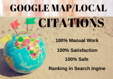I will do 250 Google Maps Citations for local business SEO with pinpoint