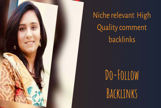 I will provide manual blog comment backlinks according to your niche