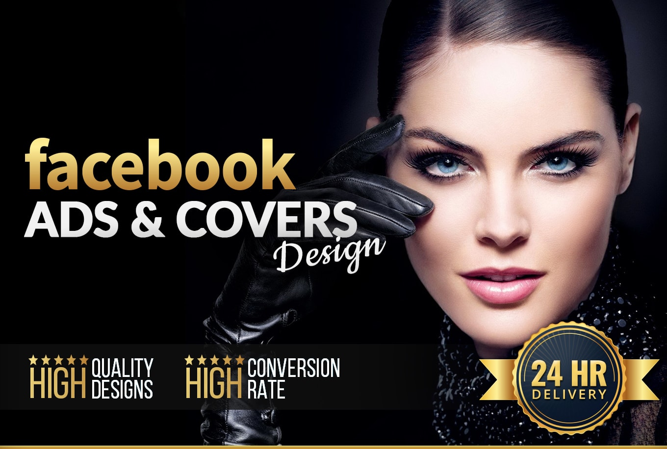 I will design professional and high converting Facebook ads covers