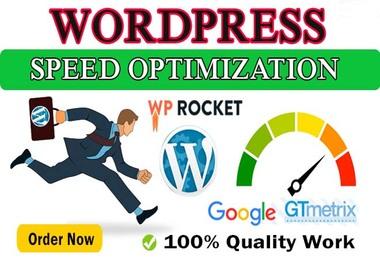 I will do Speed optimization WordPress website and improve gtmetrix,  google page speed score