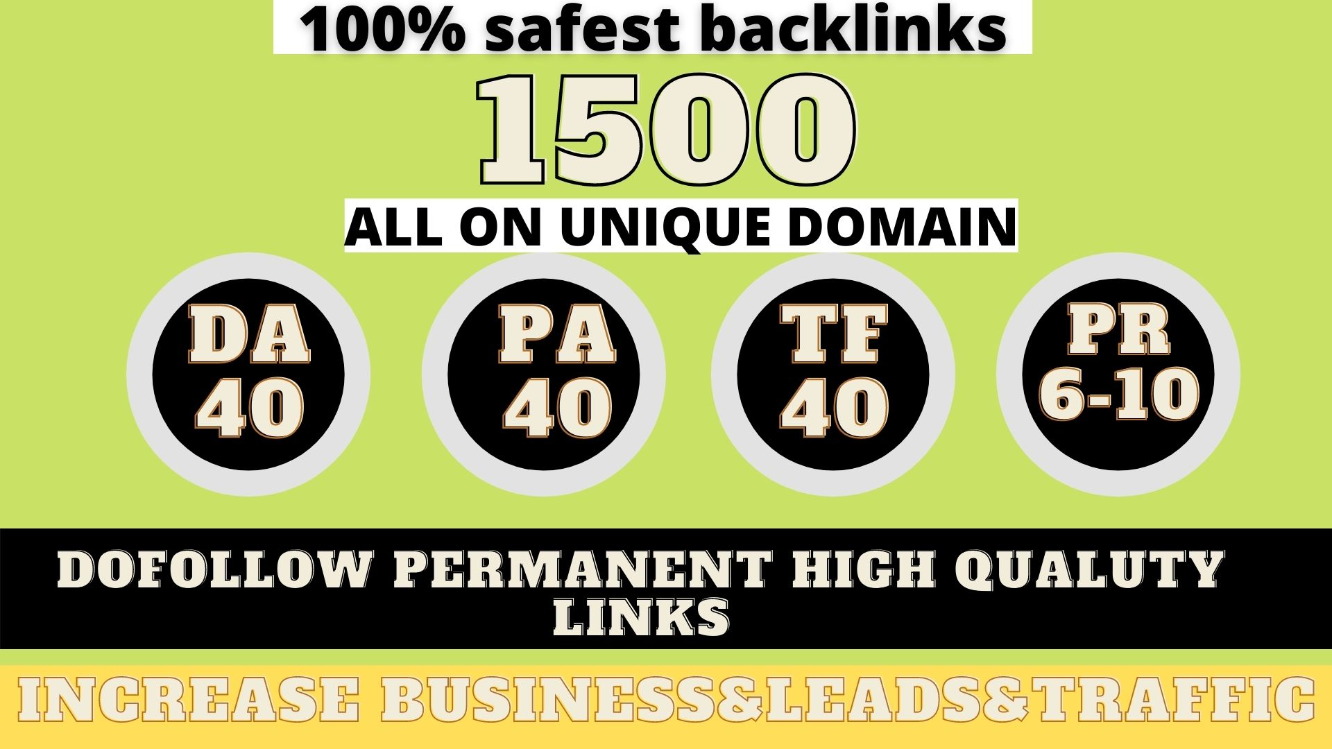 build 1500+ Permanent Web2.0 Backlink with High DA/PA On your homepage with unique website