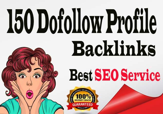 Create Manually 150 pr9 high quality Dofollow Profile Backlinks
