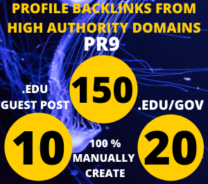 I will manually create 150 pr9+20 edu/gov backlinks and 10 edu guest posts from improv your website