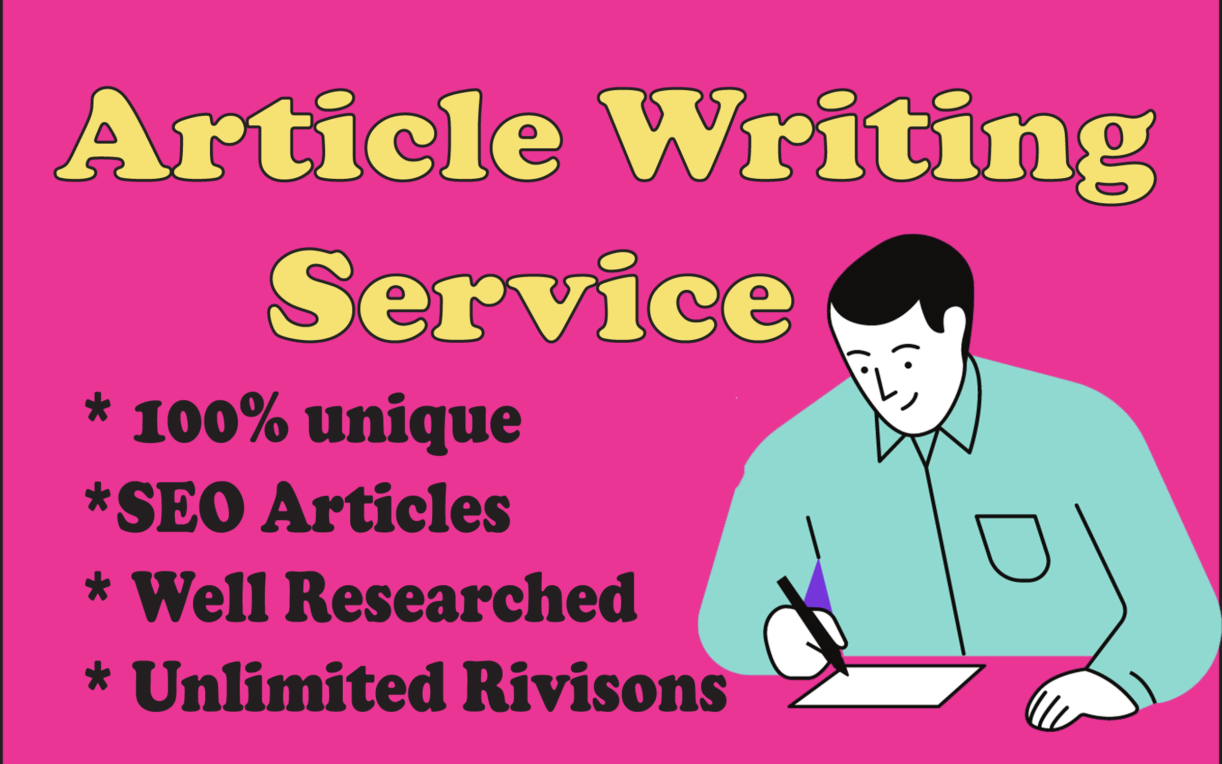 I will do 15 × 1000 words article writing,  blog writing in any niche