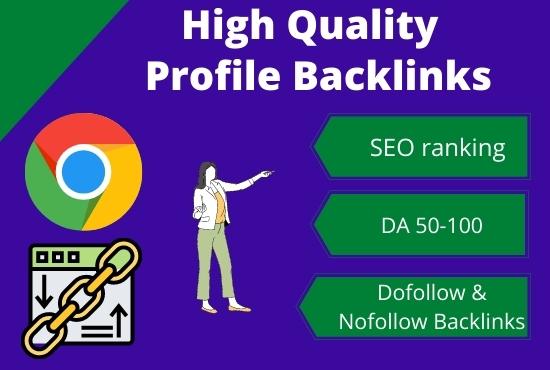 I will create high domain authority SEO do-follow profile backlinks
