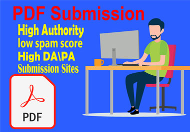 I will do pdf and article submission to the top 30 pdf sharing sites