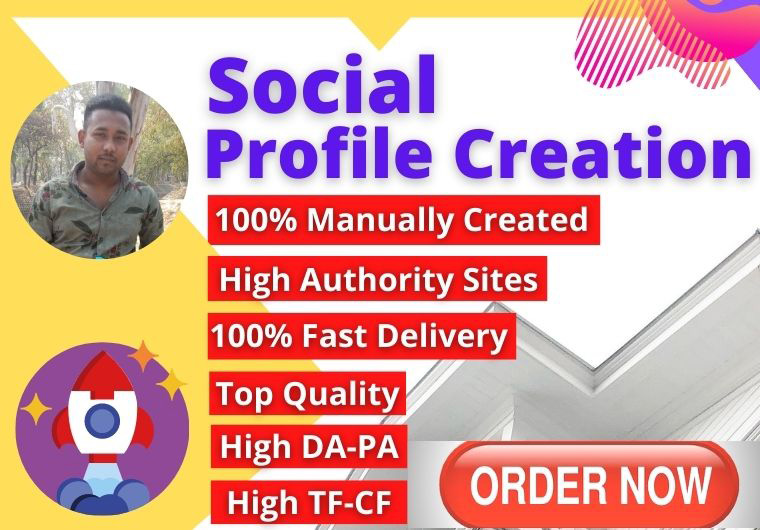 I can give You 30 High Quality Social Media Profile Creation or Profile Backlinks