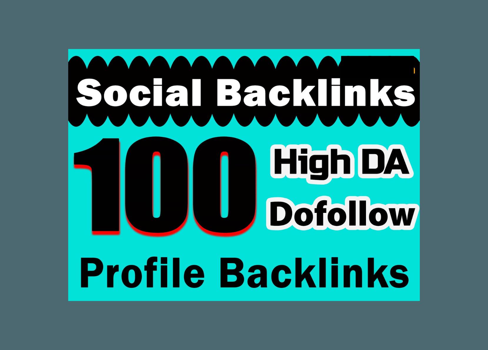I Will Create Unique 100 Social Profile Backlinks High DA PA And PR