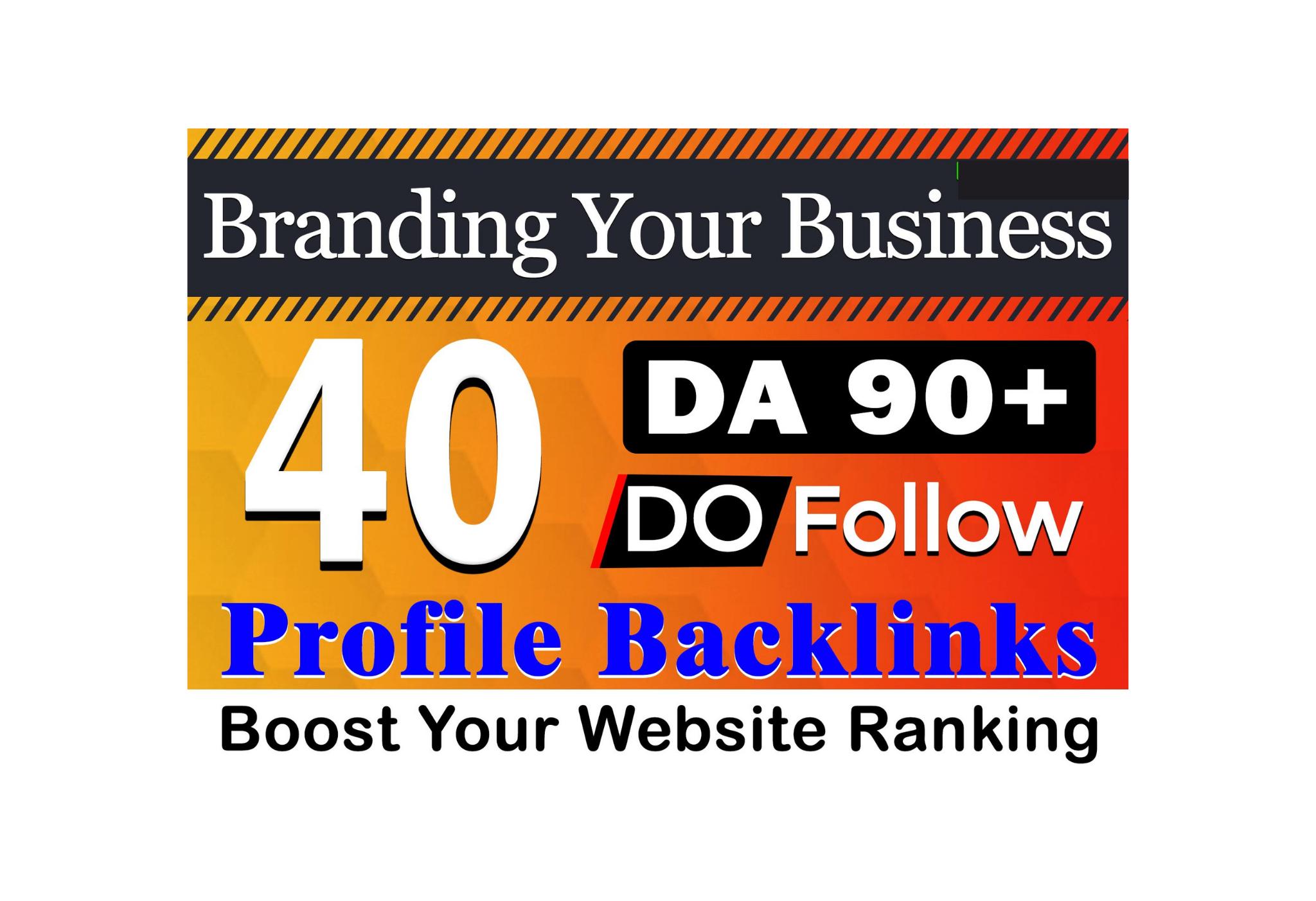 I Will Create Manual 40 Profile Backlinks DA 90+ Unique Domain