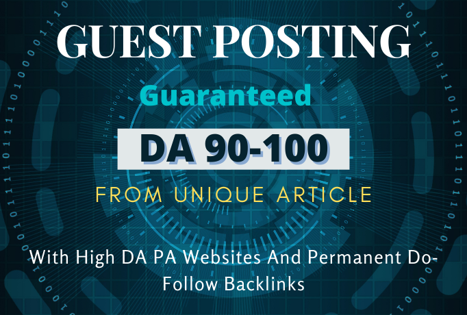 I will create 10 guest post DA 90-100 on google approved site with permanent Dofollow link