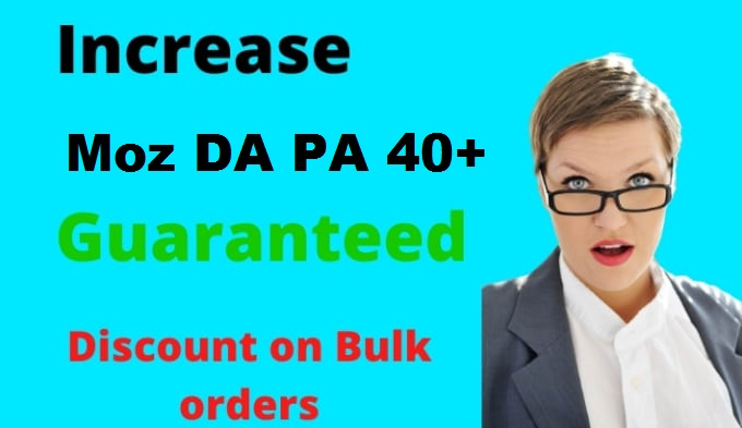 Increase Domain Authority Moz DA PA To 40+ Site Upto Website Within HQ Fast Delivery