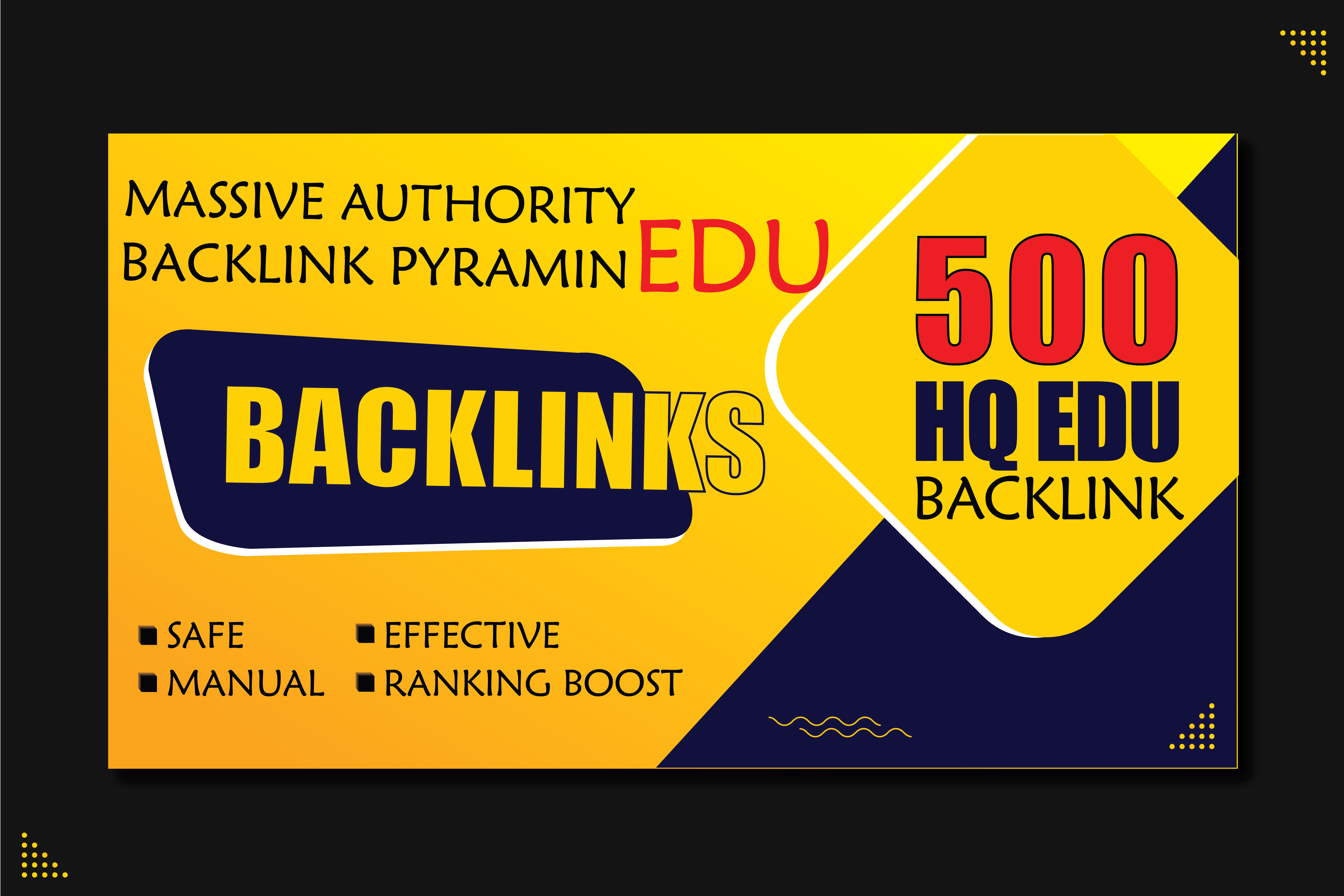 Real ranking boost in google with 500 edu backlinks pyramid