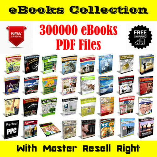 300000 eBooks Package Collection Pdf Format With Master Resell Rights