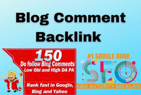 I will do 70 link building unique domain & SEO blog comment backlink