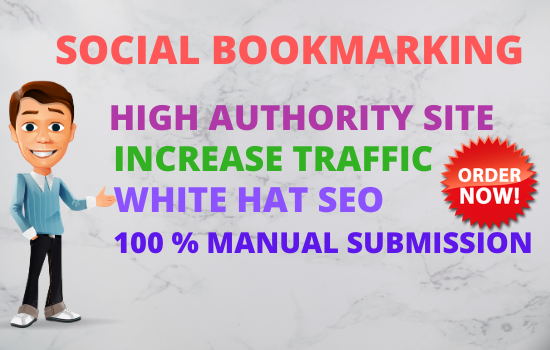 create manually 25 High PR social bookmarking backlinks