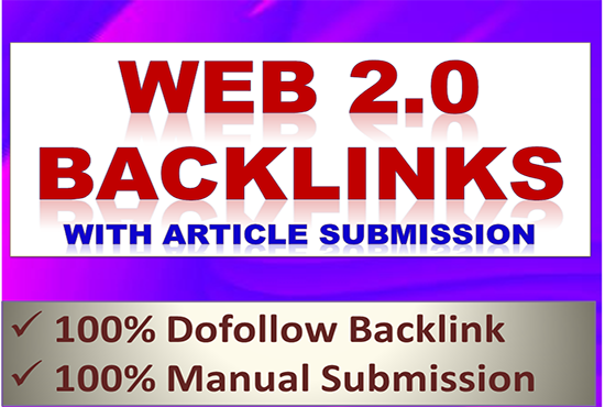20 web 2.0 backlink with article submission as link building on off page seo service Manually
