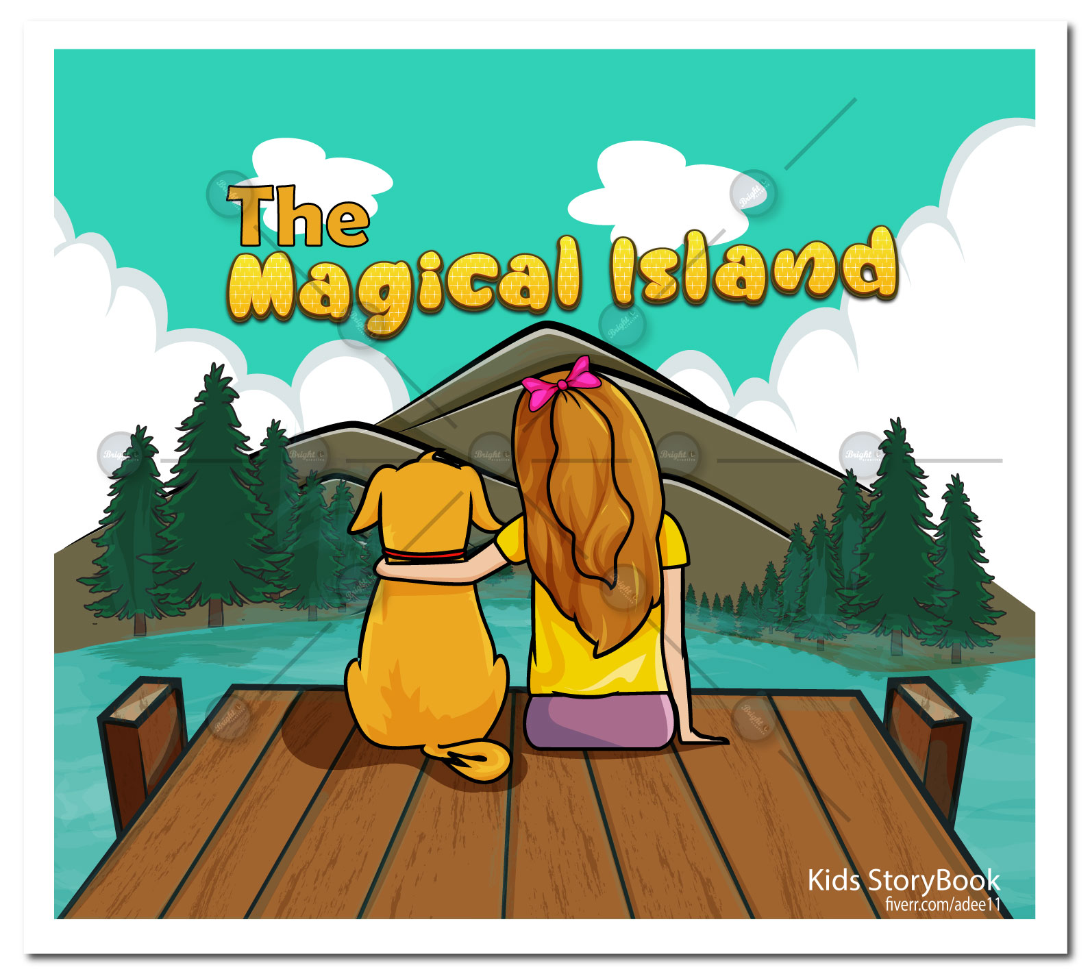 I will illustrate kids storybook pages, children storybook illustration