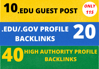 I Will Create 10 Edu Guest Post+40 Pr9+20 Edu/Gov High-Quality Dofollow Backlinks For Rank Your Page