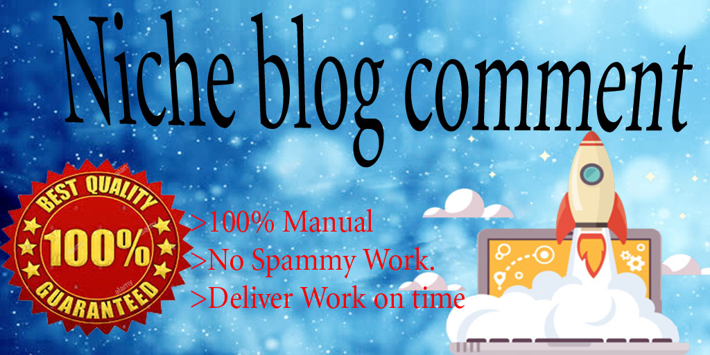 I will provide 40 niche relevant manual blog comment backlinks