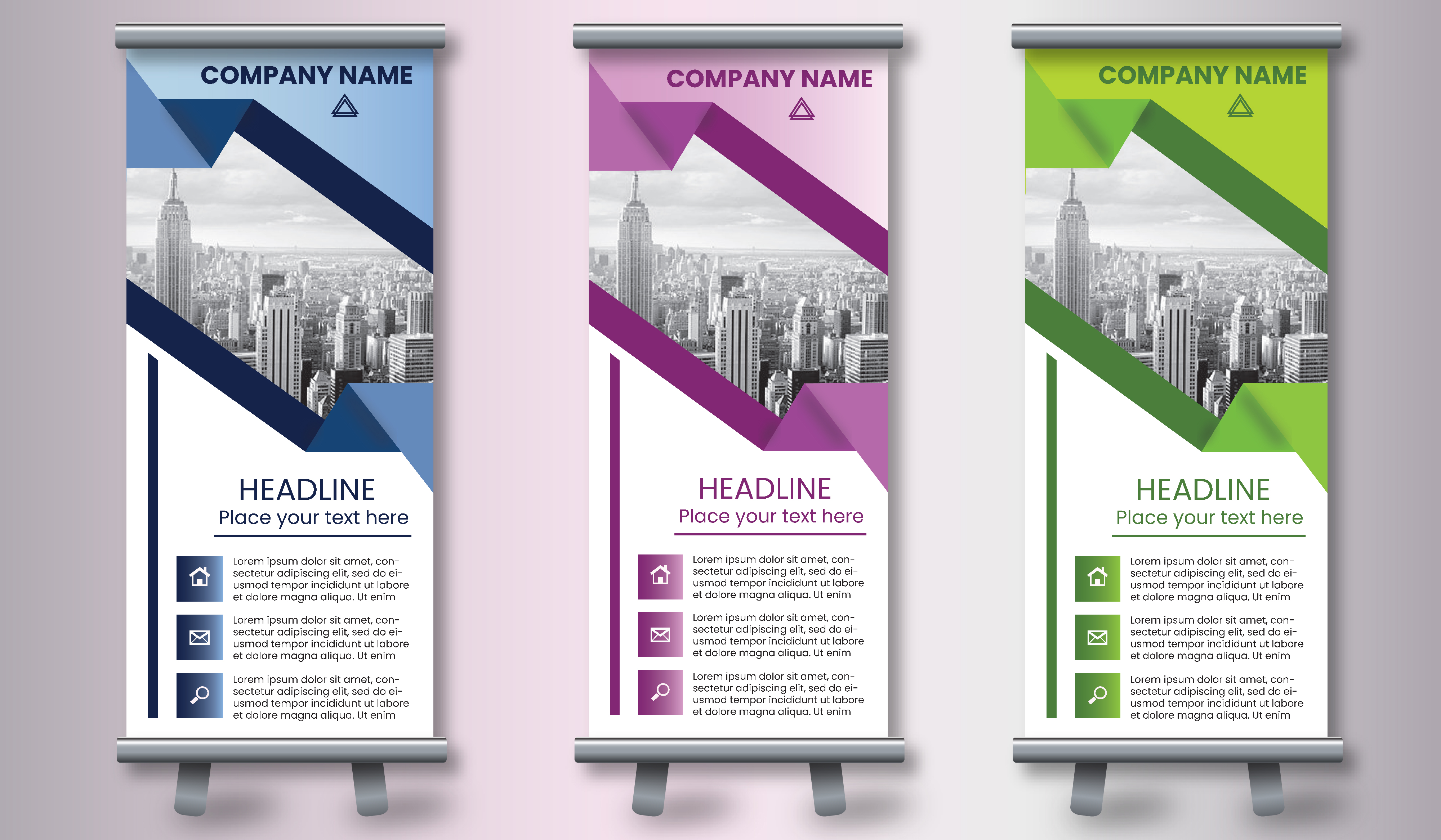 I can make eye-catching Roll-up banners within 24 hours
