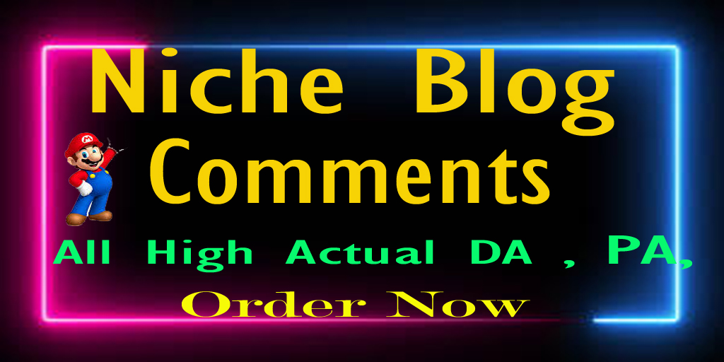 I will Do Manually 50 High Niche Blog Backlink Comments