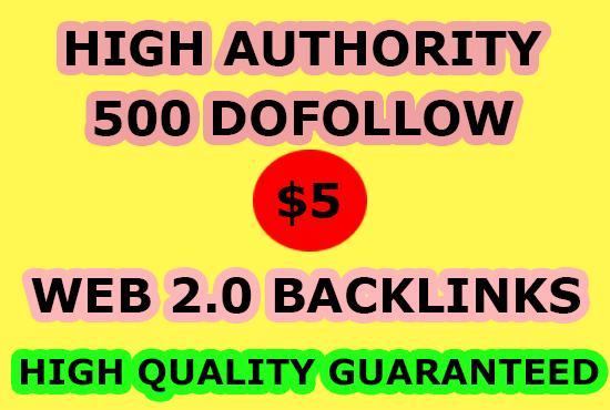 do 500 dofollow web 2.0 blog contextual SEO backlinks