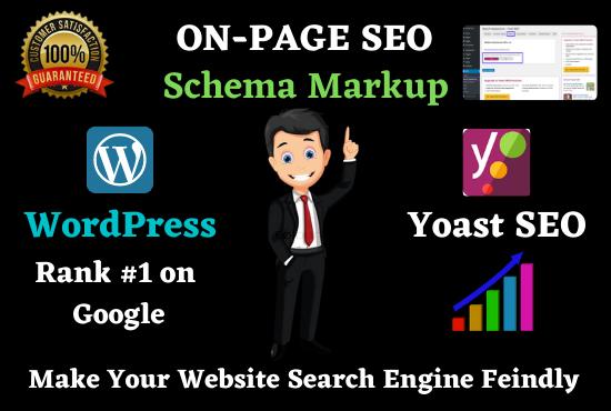 I will Provide WordPress Yoast SEO On page with Schema markup
