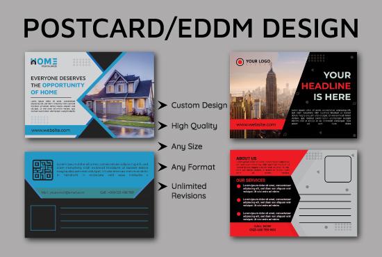 I will do amazing promotional postcard or eddm design