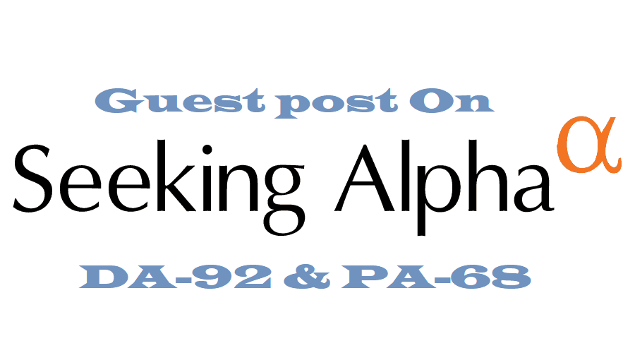 Publish content On Seeking Alpha SeekingAlpha. com DA 92