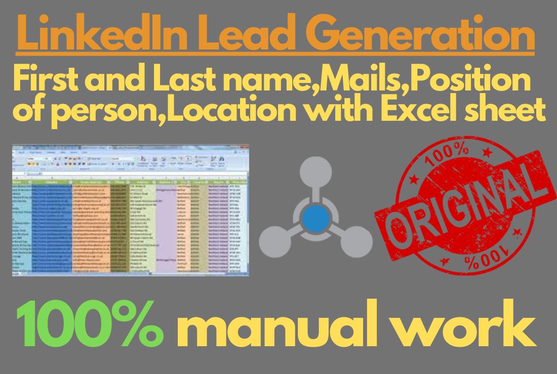 I will provide you niche targeted mails from LinkedIn with Excel sheet