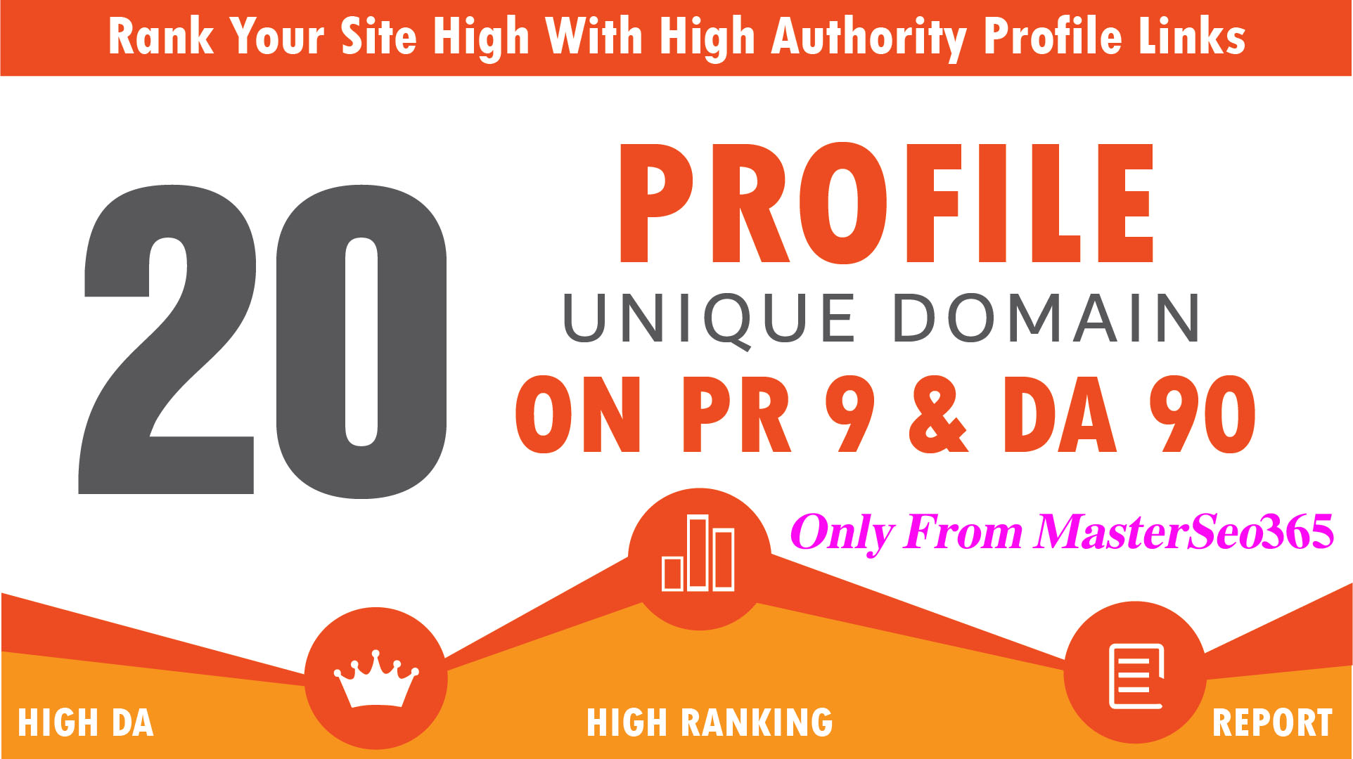 I will build Manually 20+ Excellent PR9 Backlinks 80+ DA High Quality SEO Domain