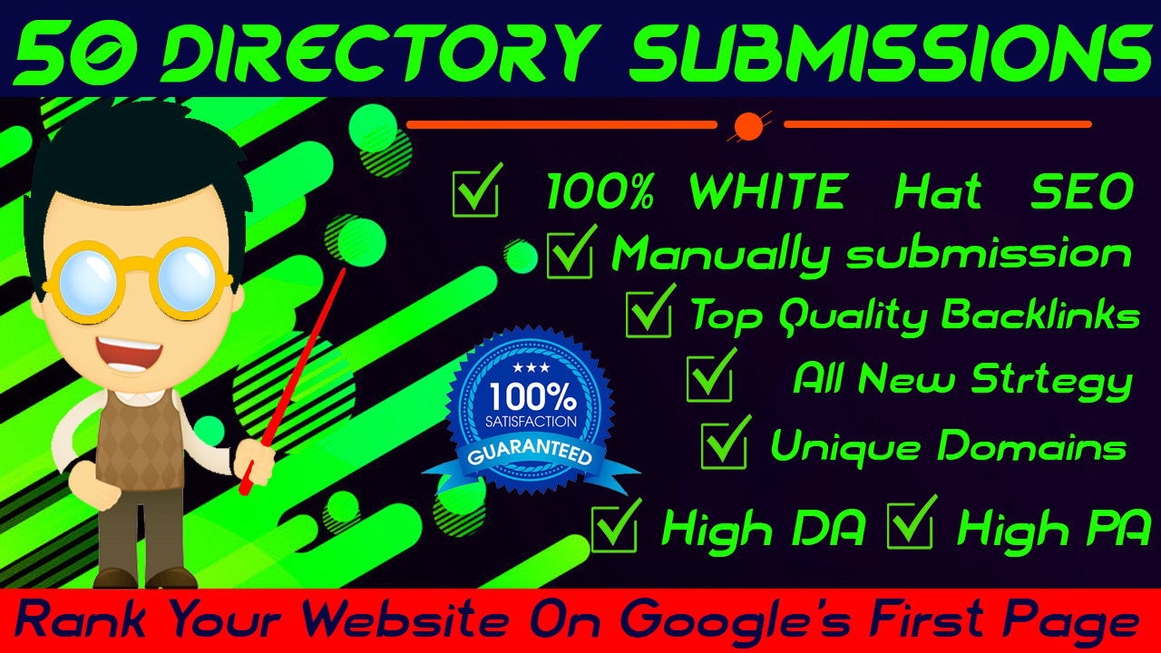 I will do 50 directory submission,  manually