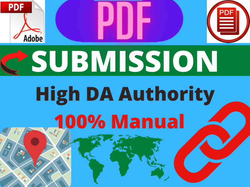 I will create 30 PDF submission manually High DA manually link building