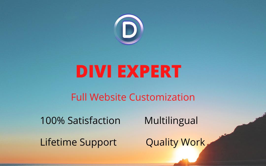 I will design and customization Divi WordPress website theme