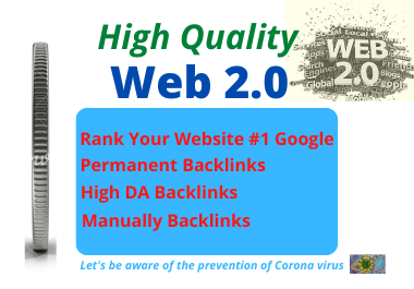 I will Create Manually 20 High authority backlinks web 2.0 for top SEO in Google Ranking