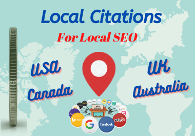 21 Manually TOP Live USA/UK/CA/AU Local Citations for Local seo local listing,  directory