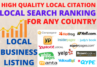 High-Quality Manual 30 Local Citation For Any Country and Directory Submission for Business Ranking