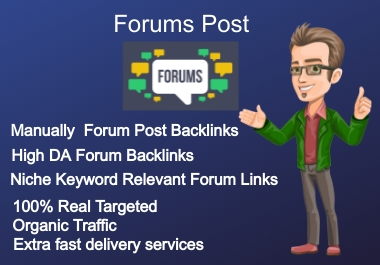 I Provide 100 HQ any Forum Posting Backlink For Easy Ranking Your Site