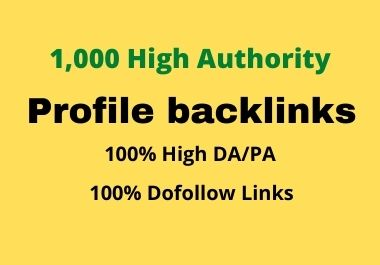 I will do 200 high quality profile backlinks for website SEO ranking