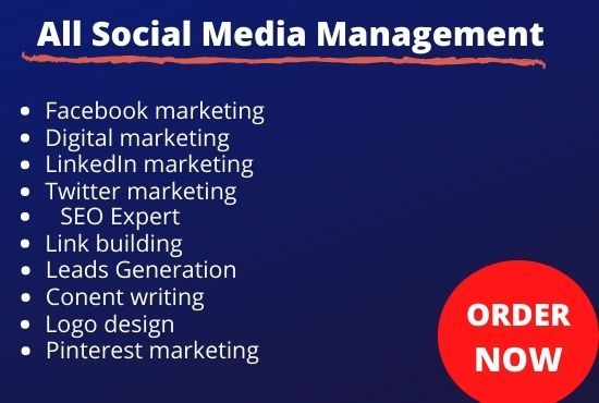 I will be your social medi a manager and content creator