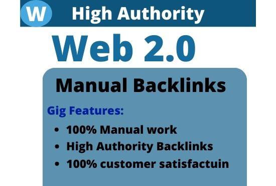 I will make 20 web 2.0 seo dofollow backlinks