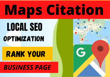Live 200 Map Citations high Quality backlinks to rank your google business page for local seo