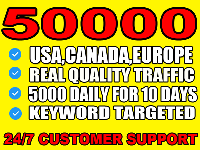 I will send real visitors,  targeted web traffic from usa, canada, europe
