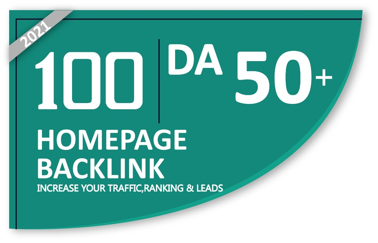 Manually Homepage 100 backlinks DA 50+ Available In Very Cheap Price.