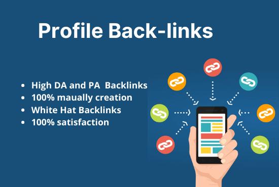 I will provide 100 Dofollow High DA PA profile backlinks